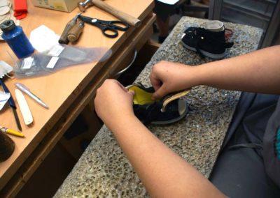 Sandalen können im Schaft verstärkt und gepolstert werden