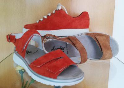 Semler Schuhe und Sandalen in knalligem Rot